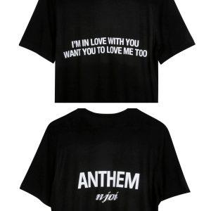 N-Joi Anthem Im In Love T-Shirt Black