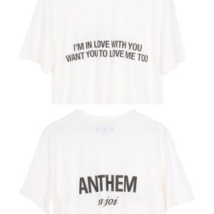 N-Joi Anthem Im In Love T-Shirt white