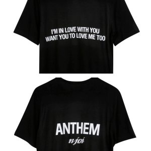 N-Joi Anthem Im In Love T-Shirt Black