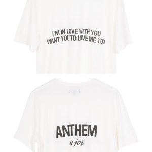 N-Joi Anthem Im In Love T-Shirt white